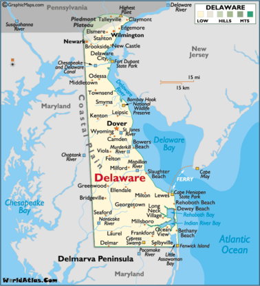 Map Of Delaware Beaches Map of Delaware DE | Delaware in 2019 | Rehoboth beach delaware