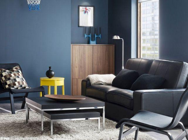 1000 images about immo nouveaux achats dco on pinterest - Deco Salon Bleu Gris