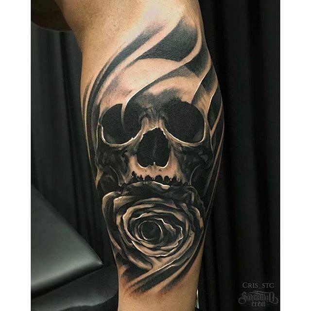 Best Skull Tattoos Skull And Rose Tattoos Skull Tattoo Sleeve Skull Tattoos For Females Skull Tattoos For Men S Leg Tattoos Tattoos For Guys Skull Tattoo