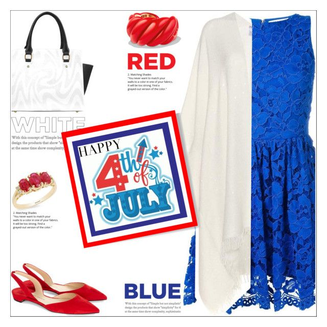 """Happy 4th Of July"" by atelier-briella ❤ liked on Polyvore featuring Alice + Olivia, Brunello Cucinelli, David Yurman, Effy Jewelry, Paul Andrew, chic, Elegant and fourthofjuly"