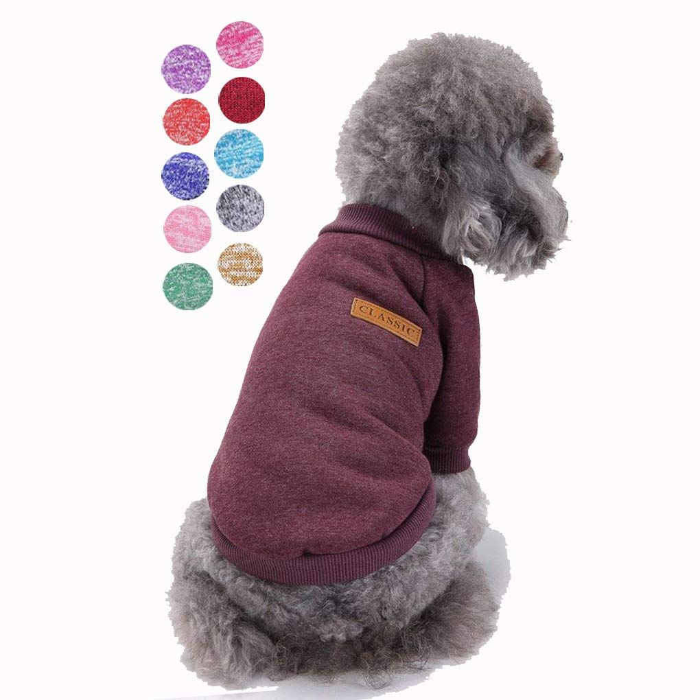 Warm Doggie Clothes Cute Knitted Pet Dog Shirt Apparel Jacket Coat for Small Dogs Bkolouuoe Puppy Sweater