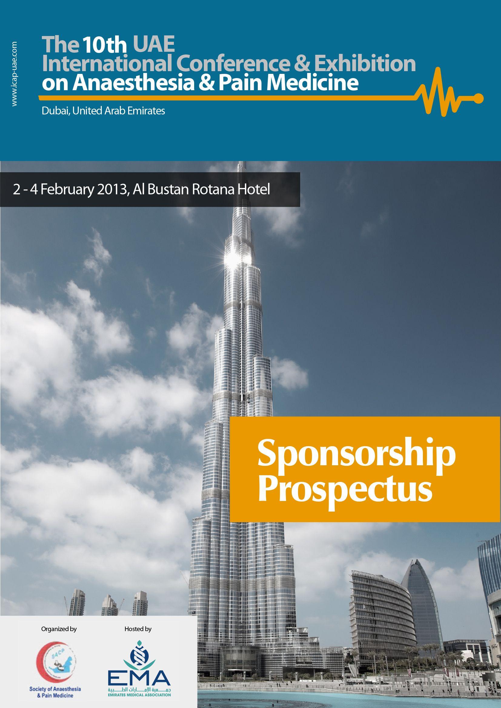 Sponsorship Prospectus Cover Page Sponsorship, Cover