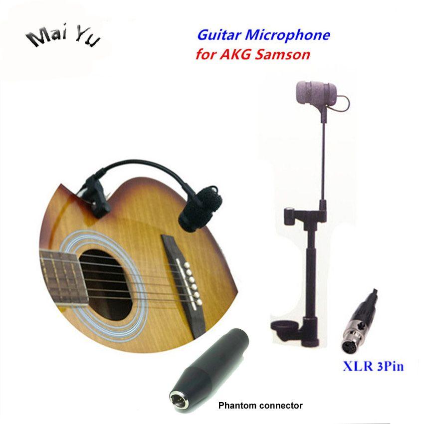 Professional Instruments Guitar Microphone Gooseneck Microfone For Akg Samson Wirelss System Xlr Mini 3pin Phantom Connector Review Guitar Akg Microphone
