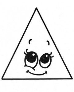 Triangle coloring page 1 school spanish pk k for Triangle coloring pages