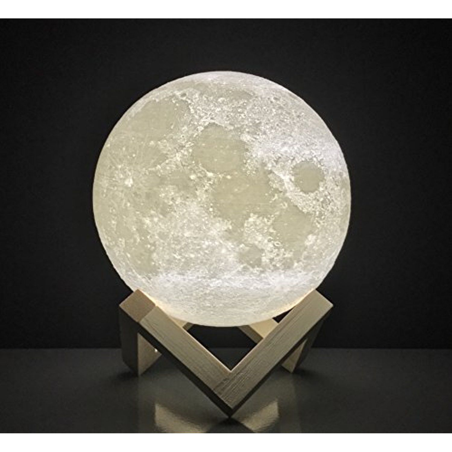 Moon Lamp Round Night Light 3d Printed Free Ebook Dimmable Brightness Touch Sensor Usb Charger Warm Lig Night Light Lighting Ceiling Fans White Light