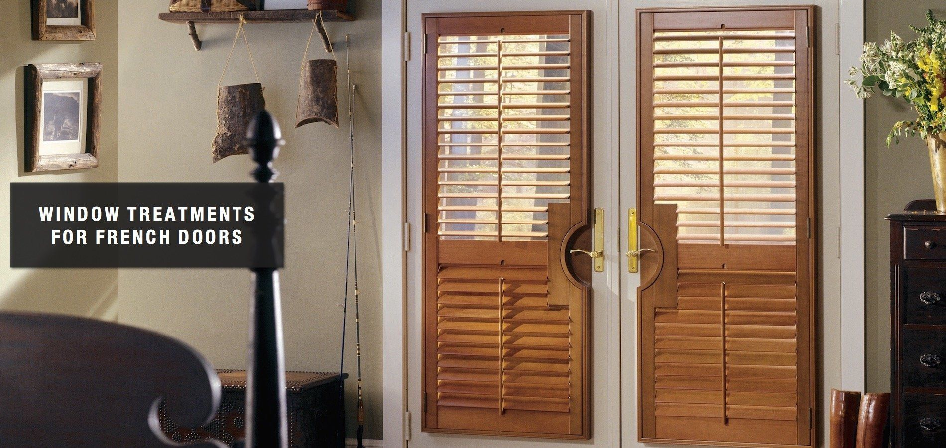 Window treatments for french doors by classic blinds u shutters