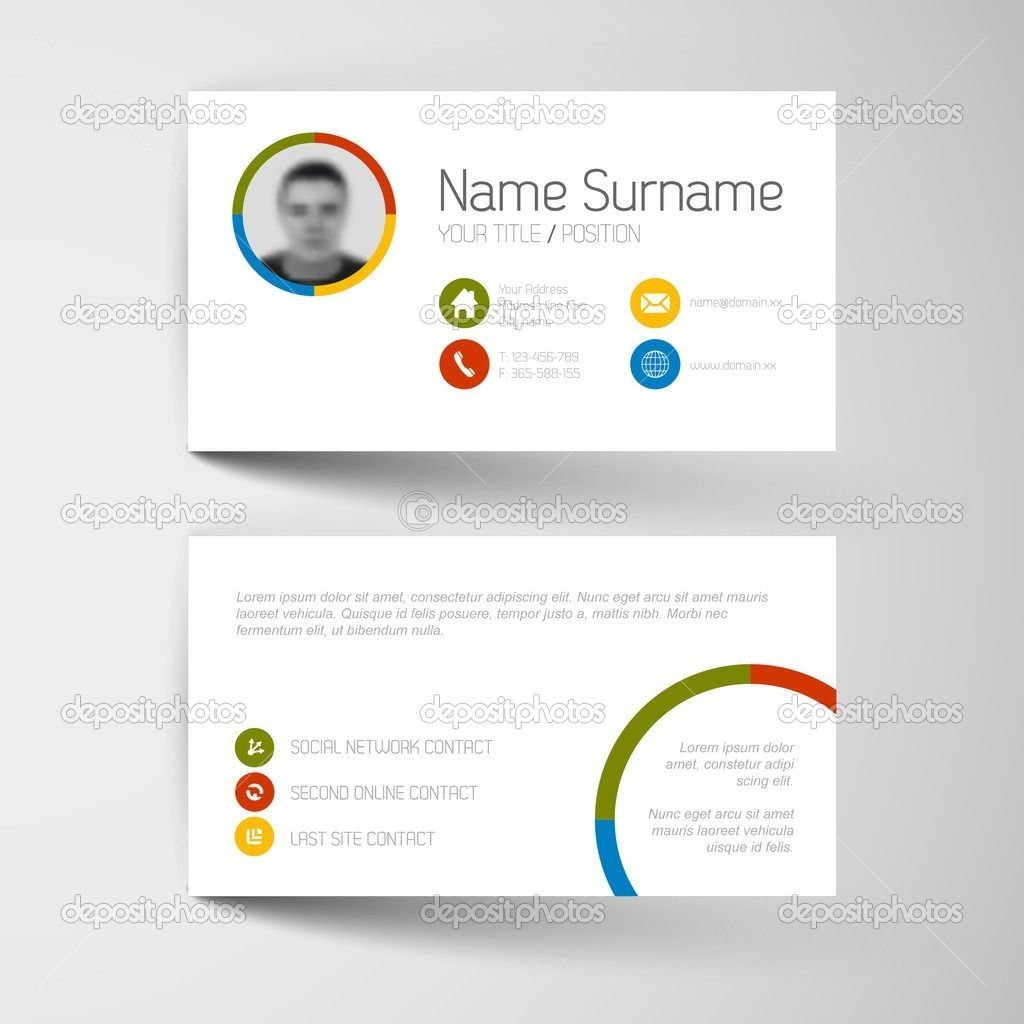 Custom Design Business Card Template Google