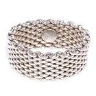 TIFFANY & CO Sterling Silver Mesh Somerset Ring 11 - , Mesh, Ring, silver, Somerset, Sterling, Tiffany - http://designerjewelrygalleria.com/jewelry/tiffany-co-sterling-silver-mesh-somerset-ring-11/