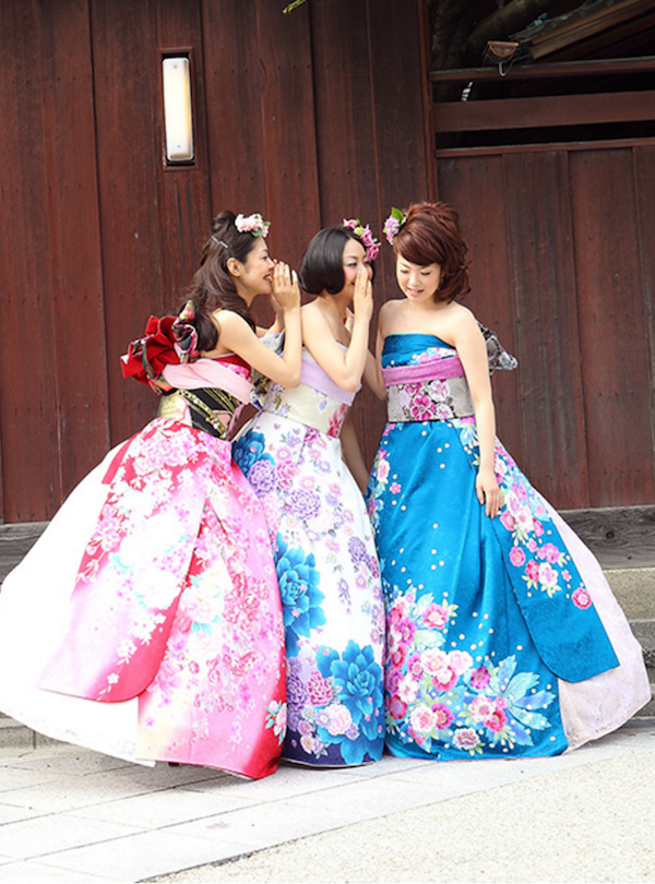 Japanese Brides Are Transforming Furisode Kimonos Into Stunning Dresses