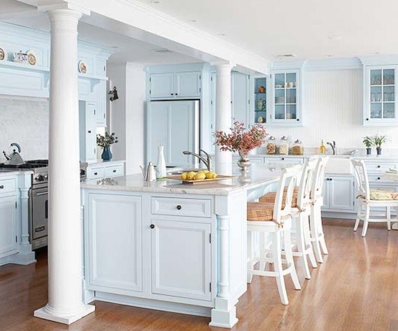 Ice blue beach cottage kitchen | Kitchen | Pinterest | Beach cottage ...