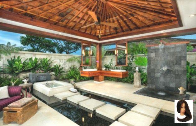 15 entspannende tropische Badezimmer-Designs für den Sommer #outdoor #hawaii #interior