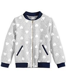 Monteau Quilted Heart Bomber Jacket, Big Girls (7-16) | SEWING ...