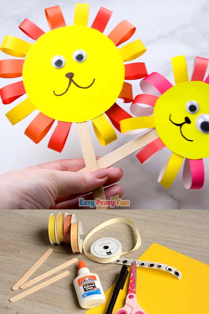 This ribbon lion puppet craft has to be one of the most adorable things we have done in a while. Isn't this fellow just the cutest?