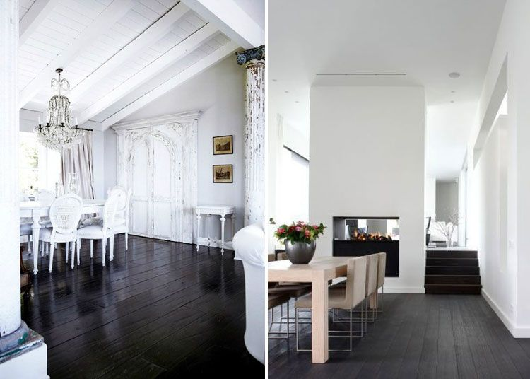 Black Wood Floors White Walls Black Wood Floors White Walls