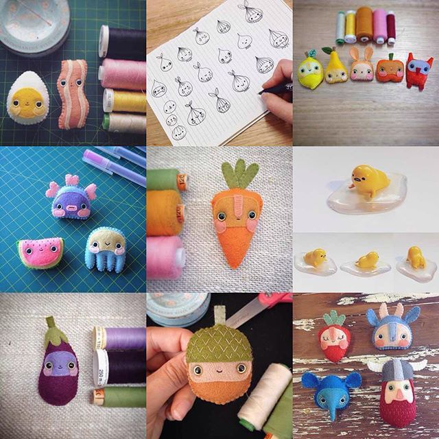 Here it is, my #2016bestnine! (heavily brooch focused, with a dash of Gudetama and onion friend sketches thrown in for good measure)  I want to say a big thank you for all the encouragement from old followers and new this year, and generally taking an interest in the weird little worlds I create. Your support means a lot to me, and I hope to continue to make new and interesting things that you'll be excited to follow along with in 2017!  #hannakin #bestnine2016 #instagram #art