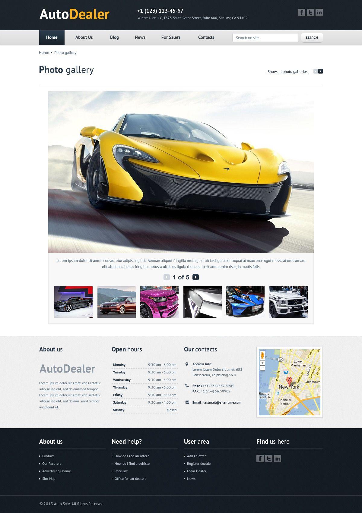 Auto Dealer Car Dealer Psd Template Wordpress Theme Website