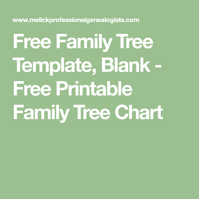 Free Family Tree Template Blank  Free Printable Family Tree