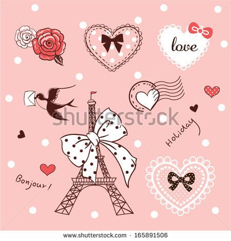 cute pink elements about love by Shya, via Shutterstock