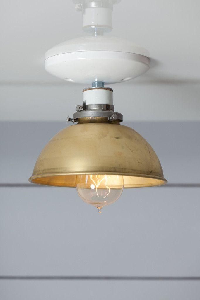 9caa5519944d Brass Metal Shade Light - Semi Flush Mount Ceiling Lamp