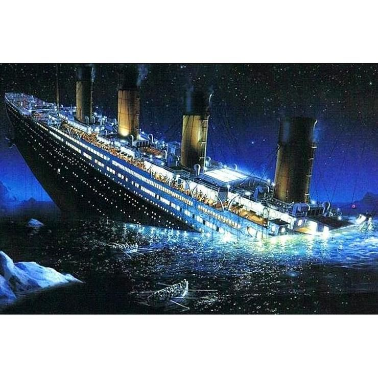Titanic Diamond Painting Kit Titanic Sinking Titanic Ship Titanic