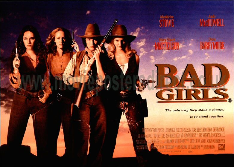 Poster badezimmer ~ Bad girls movie poster bad girls original uk quad movie poster