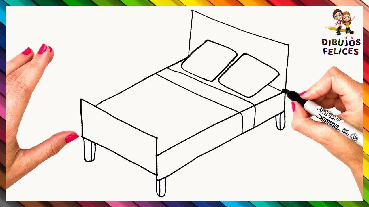 Como Dibujar Una Cama Paso A Paso Dibujo Facil De Cama Como Dibujar Una Cama Cama Para Dibujar Como Dibujar