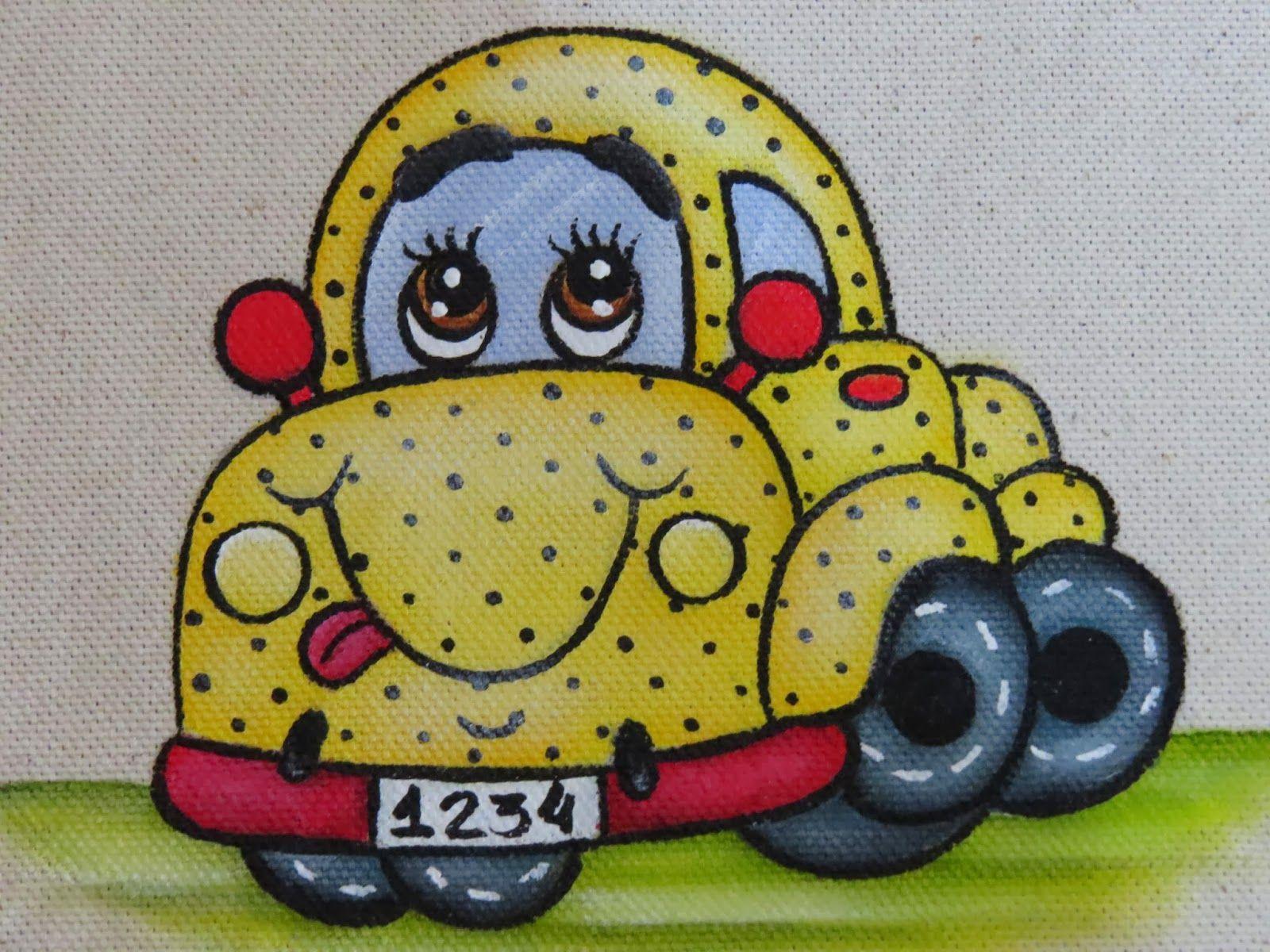 Pin Do A Mariana Matias Em Desenhos Para Pintar: Artes Mariana Santos: Como Pintar O Carrinho 4