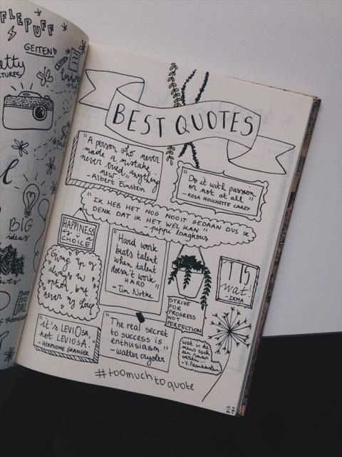 Bullet journal quotes page #journaling
