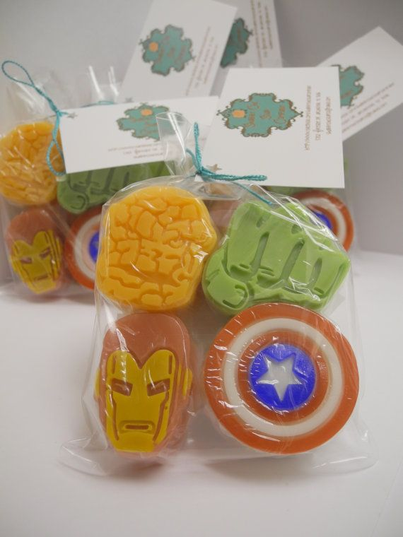 Superhero Party Favor Pack Inspired Soap Bars  by ShabbyChicSoapCo