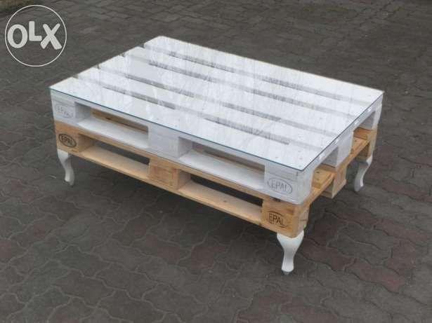 Stolik Z Palet 120x80 Loft Nogi Ludwik Wysoki 50 Cm
