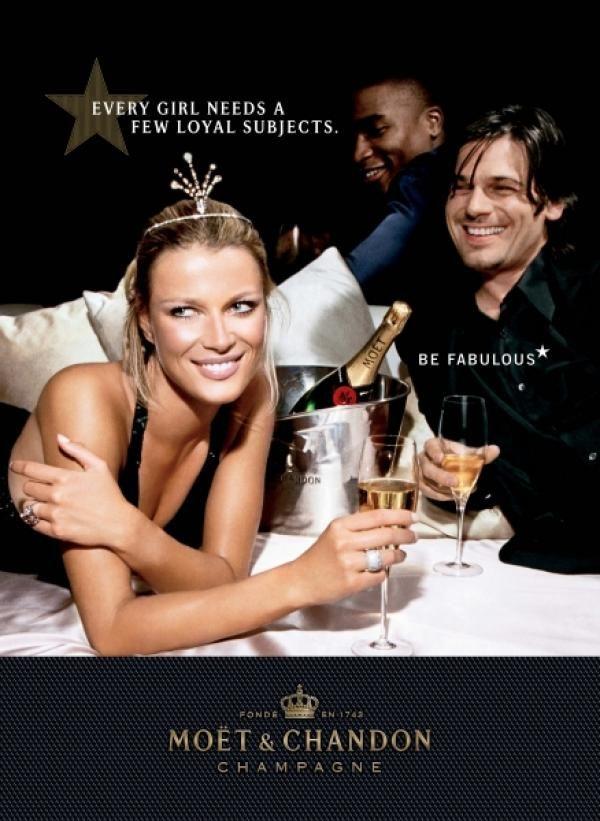 Moet Champagne: CROWN Print Ad by Kirshenbaum Bond ...