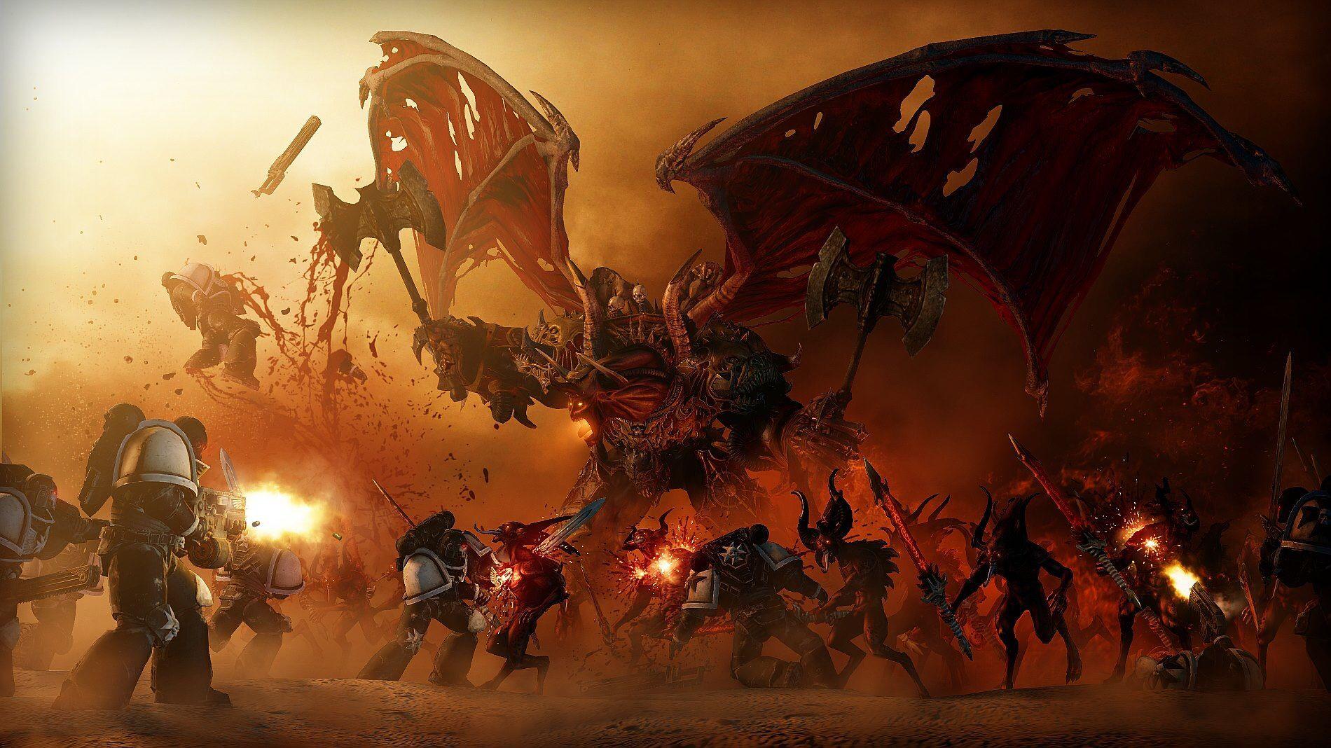 Black Templars Vs Khorne Demons Warhammer Warhammer 40k