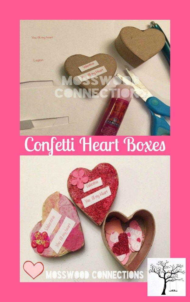 Confetti Heart Boxes Valentines