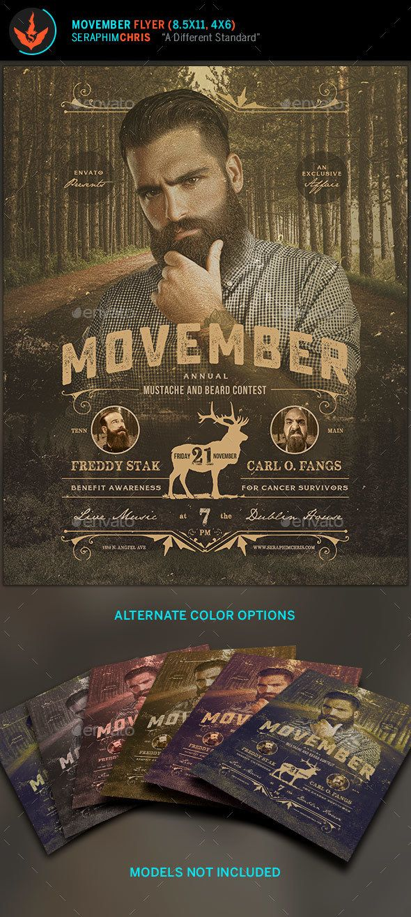 Movember Benefit Awareness Flyer Template  Movember Flyer