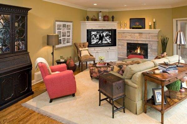 Furniture Placement In Living Room With Corner Fireplace modern living room designs that use corner units | modern living