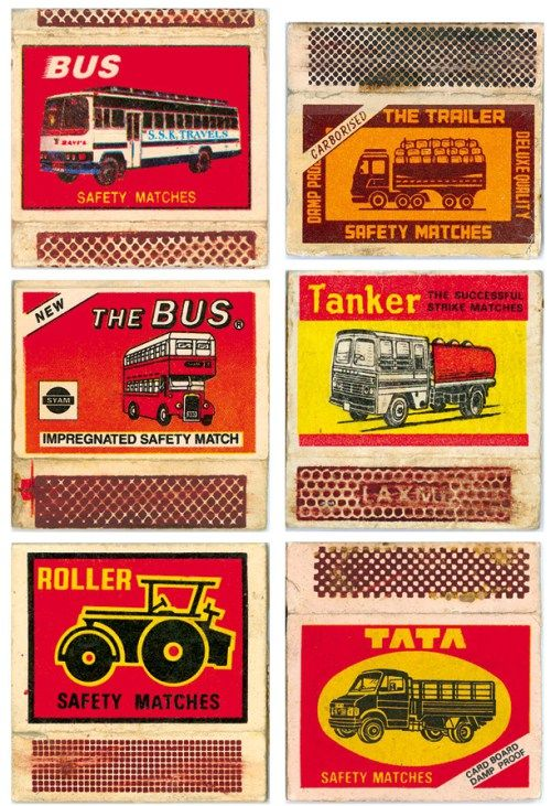 Vintage Indian Matchbook Labels