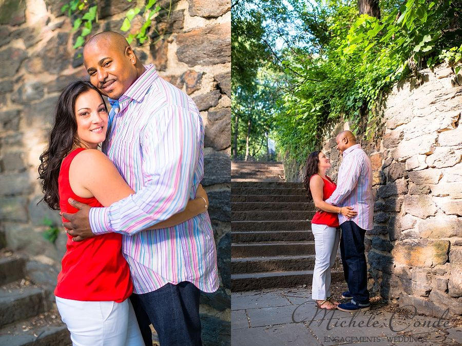 Central Park NYC Engagement Session, Conservatory Garden, New York, Michele Conde Photography www.micheleconde.com