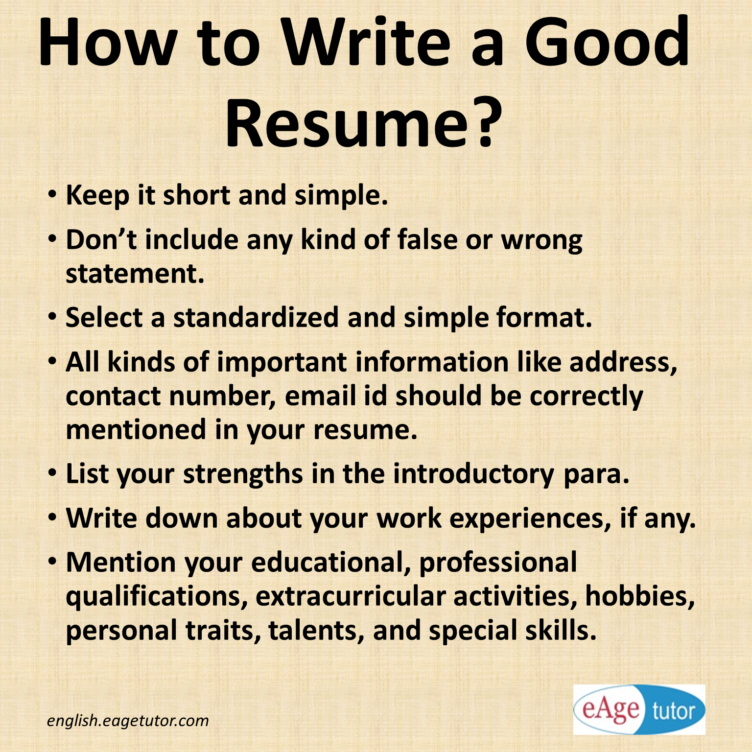 How to write a good resume for the first time? # resume ...