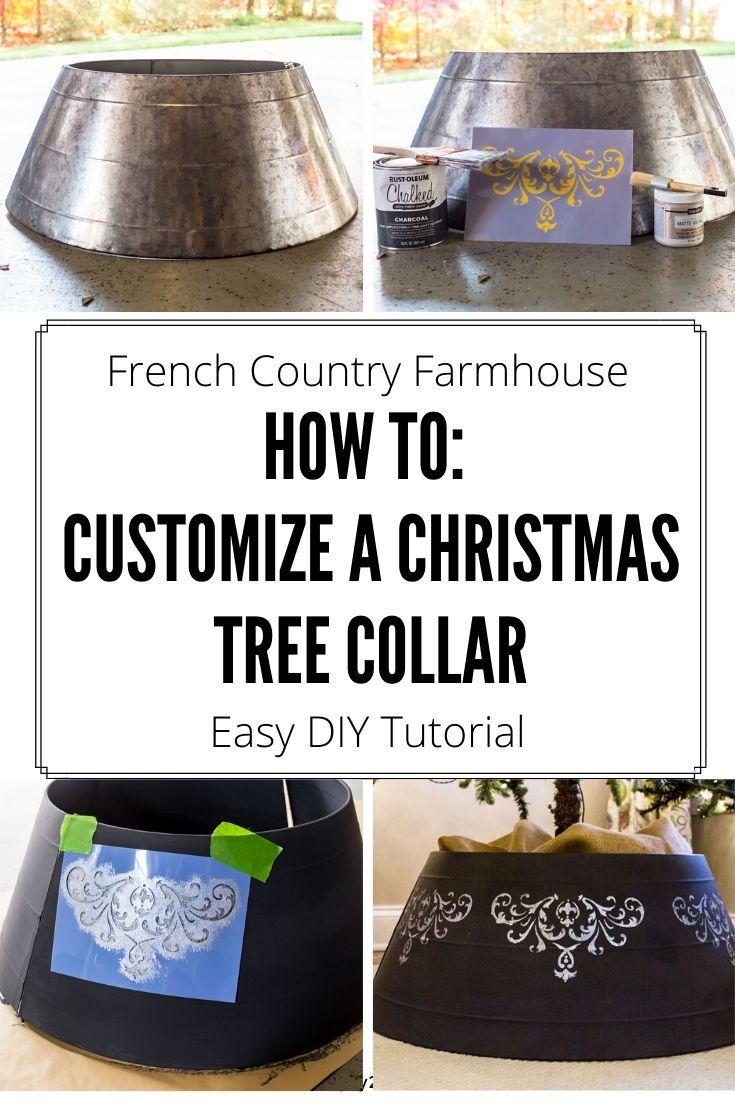 Christmas Tree Collar Makeover Tree collar, Metal