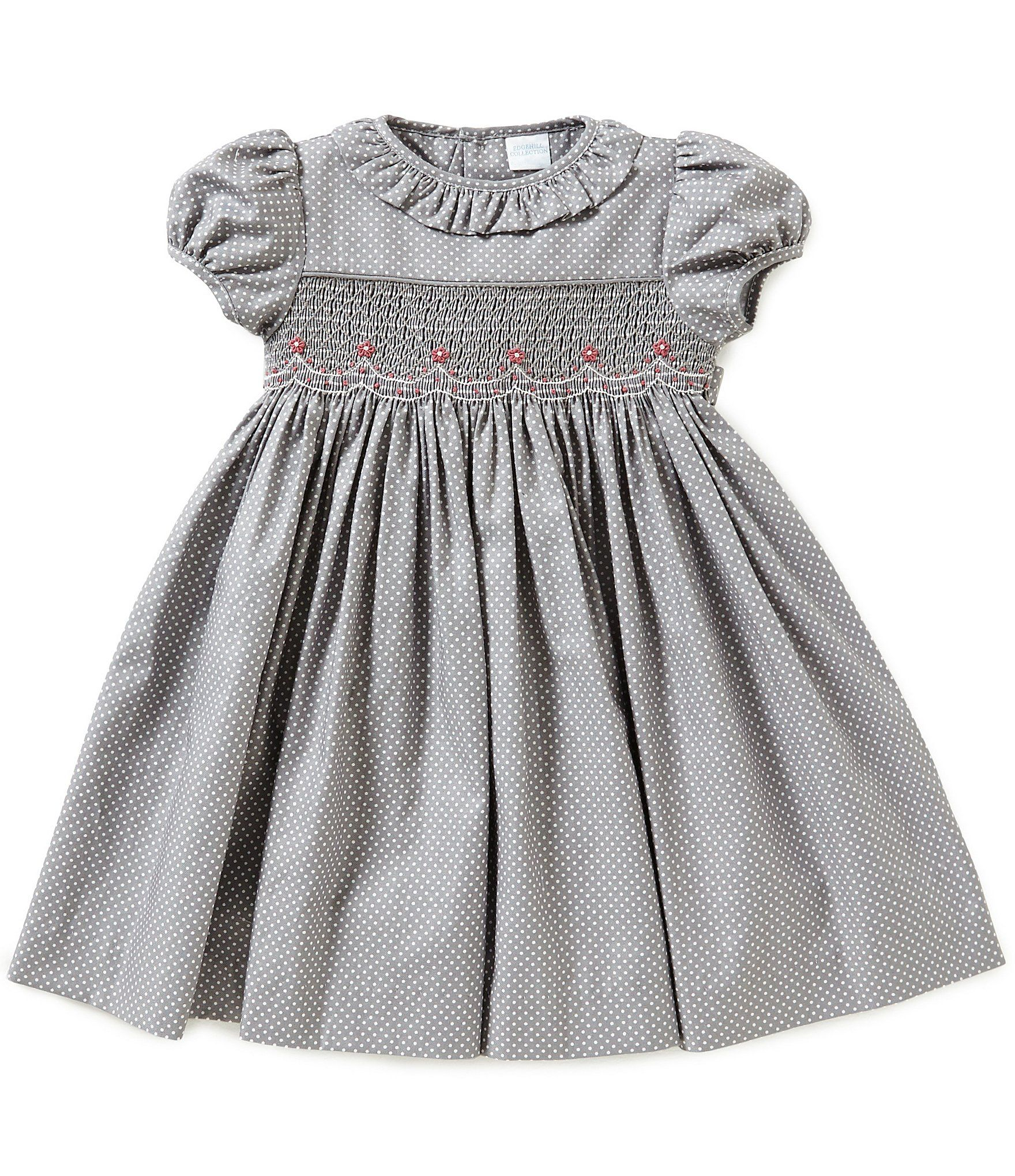 82a94552b56 Shop for Edgehill Collection Baby Girls 3-24 Months Dotted Smocked Dress at  Dillards.com. Visit Dillards.com to find clothing