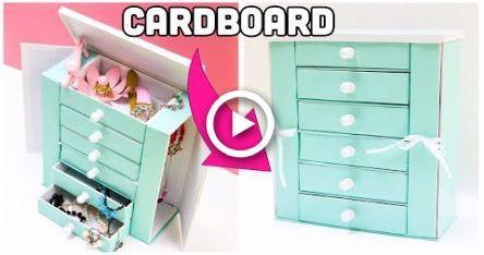 diy jewelry organizer box cardboard