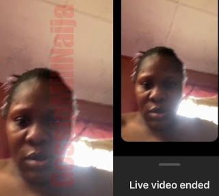 The alleged owner of a popular online news platform 'Instablog' who nobody knows the face behind the account, that has caused a lot of controversies mistakenly started a live video which happens to be a woman's face, though she immediately ended it and screamed Jesus in shock but her face has been captured by her followers.See below;