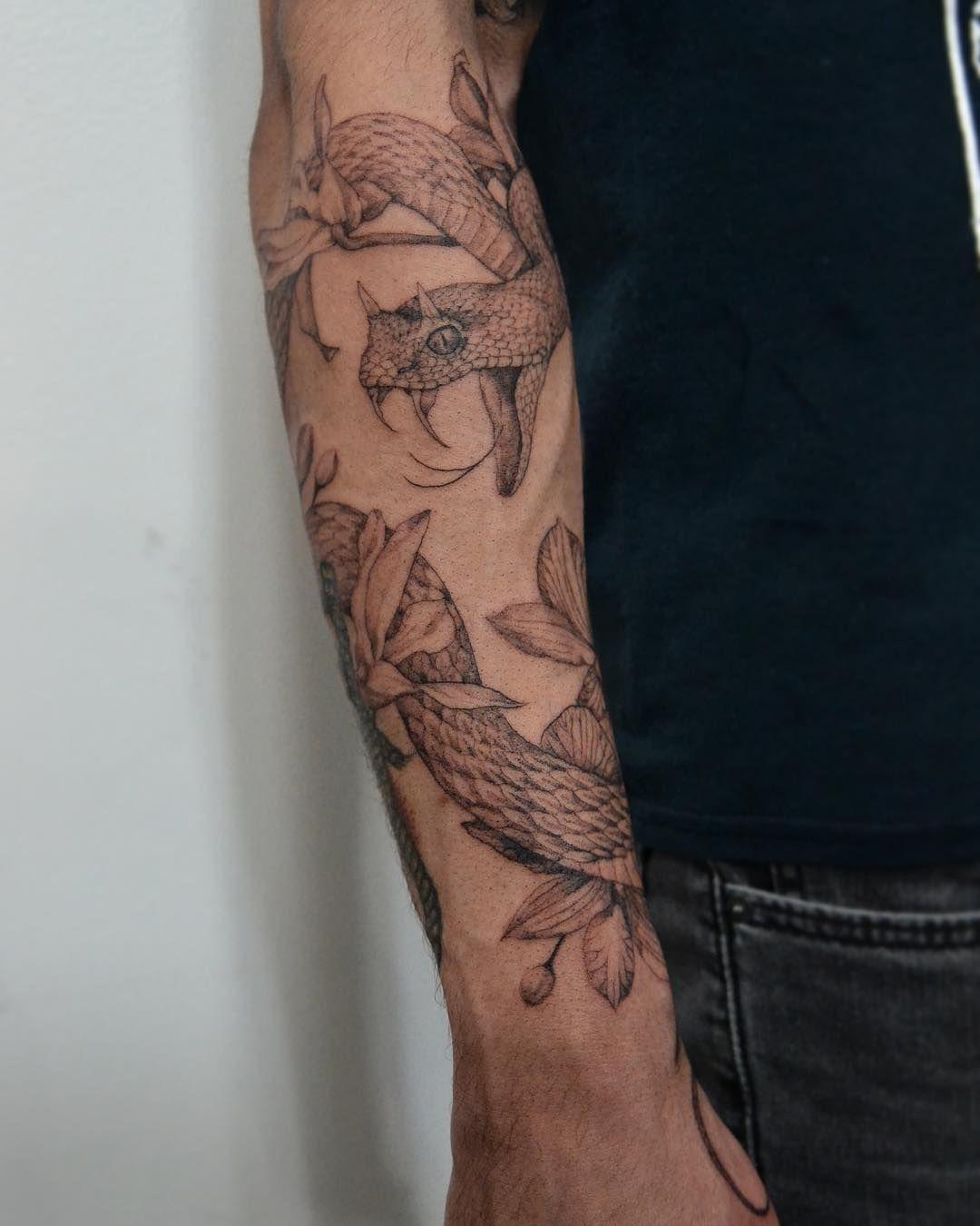 Snake Tattoos Best Sleeve Tattoos Around Arm Tattoo Half