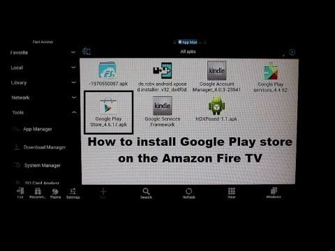 How To Install Google Play Store On The Amazon Fire Tv Amazon Fire Tv Fire Tv Google Play Store
