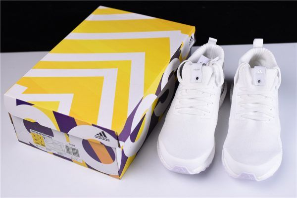 cdeb795d4f10 Men s Ronnie Fieg KITH x adidas Ultra Boost Mid White Silver Shoes Outlet  Sale-4