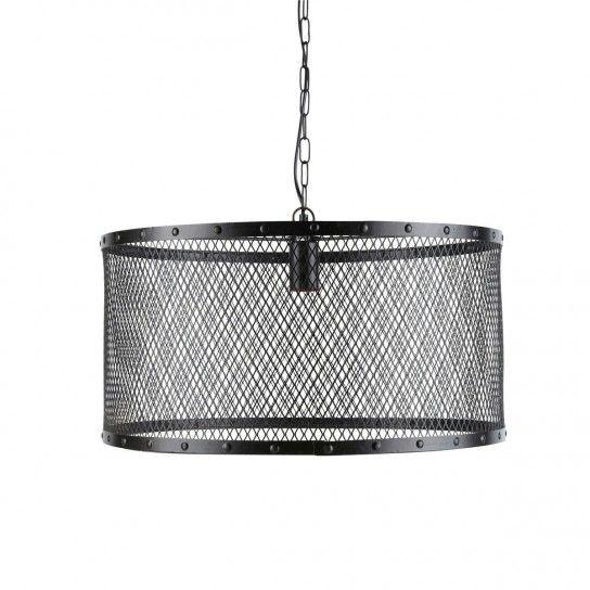 Lampada a griglia - Lampada industriale con struttura a griglia.