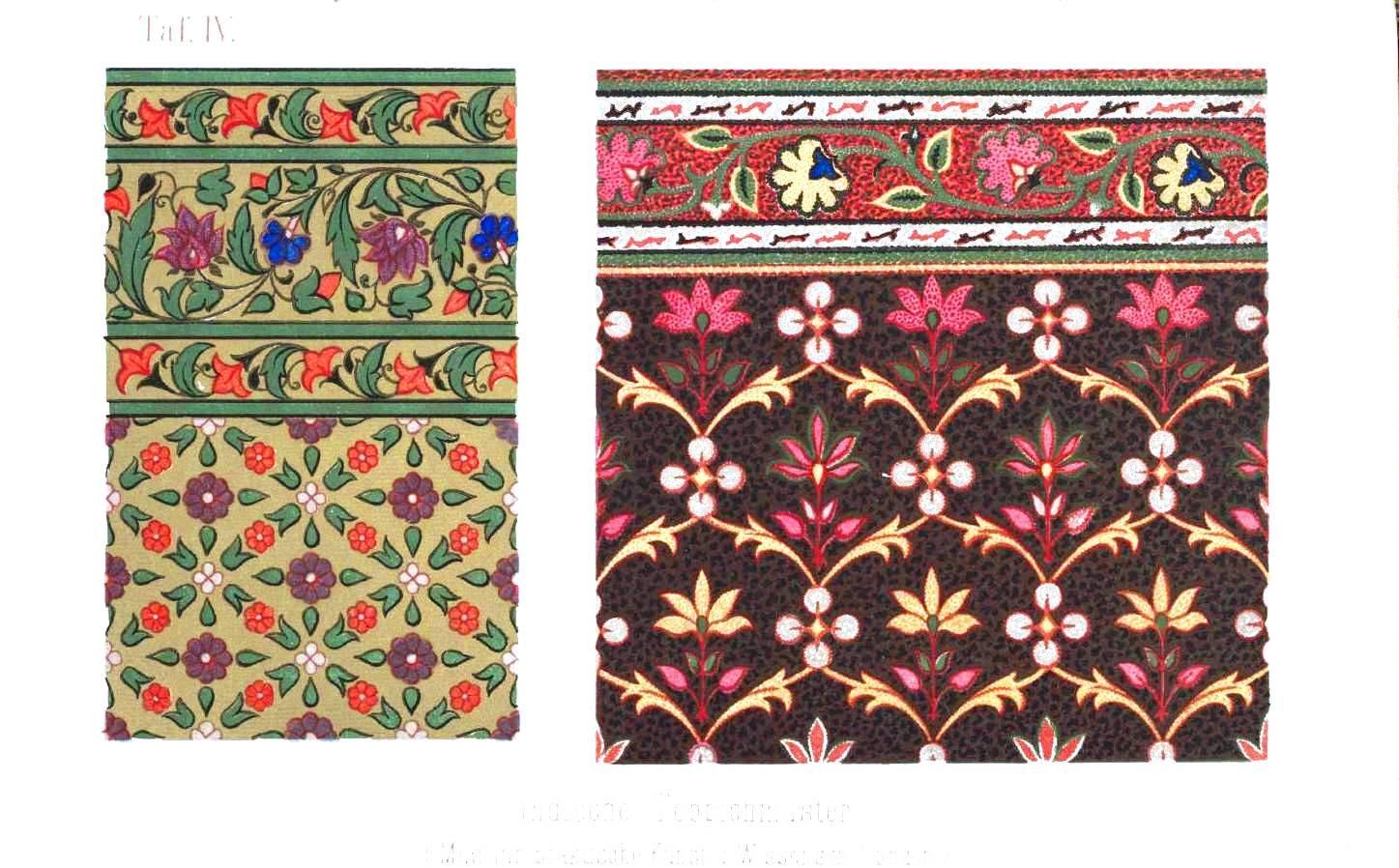 Design Textile Indische Teppichmuster. Indian block