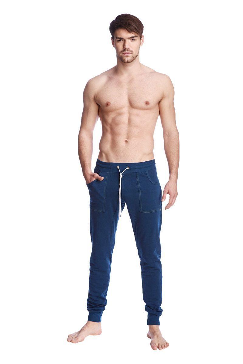 Long Cuffed Jogger Yoga Pants Royal Blue