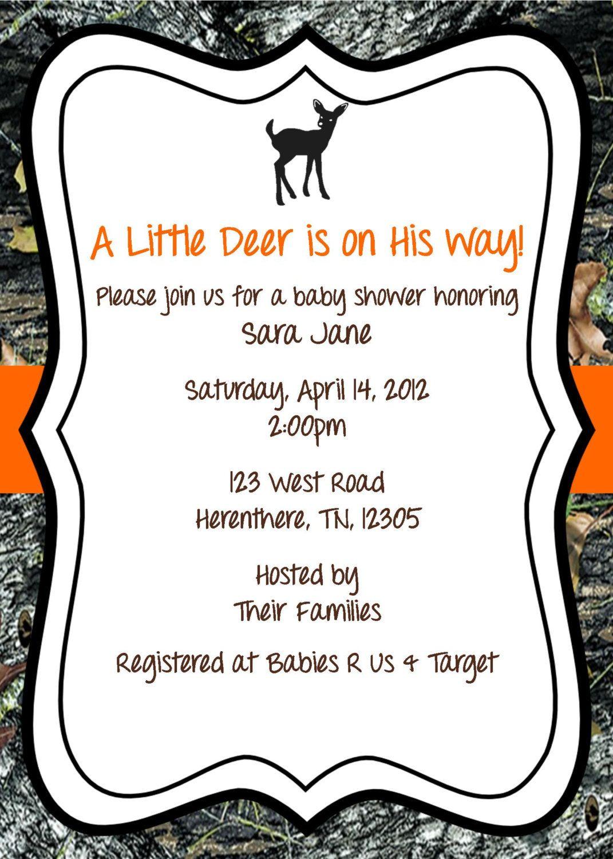 Mossy oak baby shower invitation deer 1200 via etsy diaper mossy oak baby shower invitation deer 1200 via etsy filmwisefo