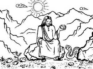 Jesus Being Tempted Colouring Pages Jesus Coloring Pages Sunday School Coloring Pages Bible Coloring Pages